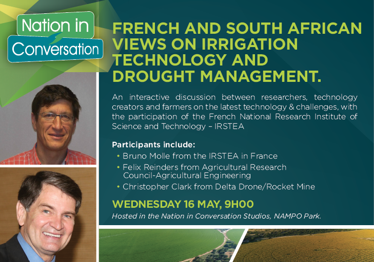 French and South African views on irrigation technology and draught management