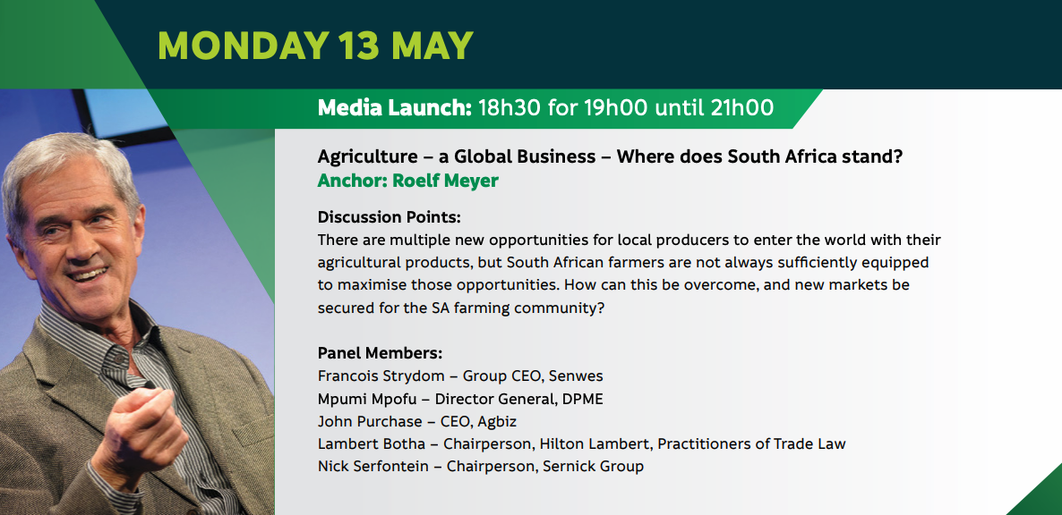 Agriculture – a Global Business – Where does South Africa stand?